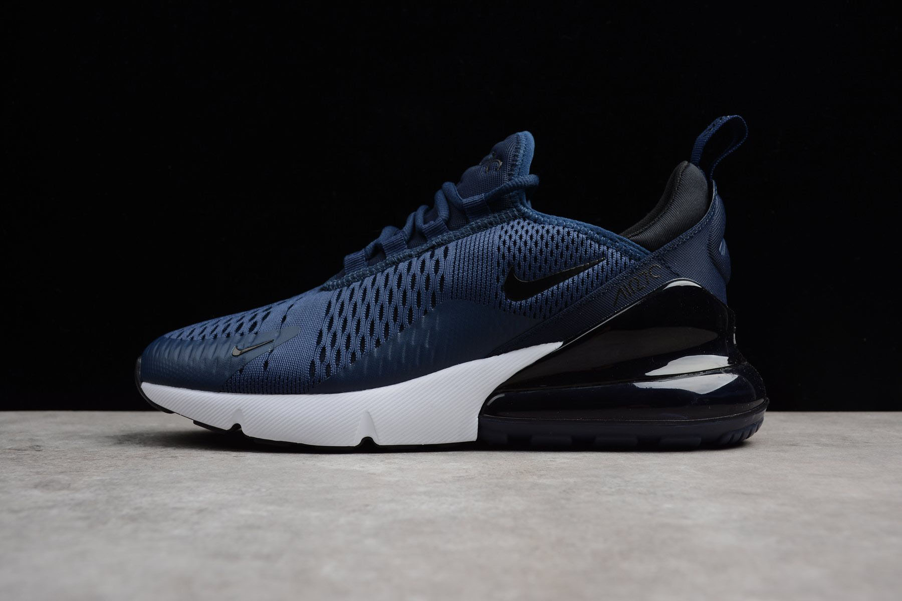 new arrival f9dc6 9485f Men s Size Nike Air Max 270 Midnight Navy Black-White AH8050-400