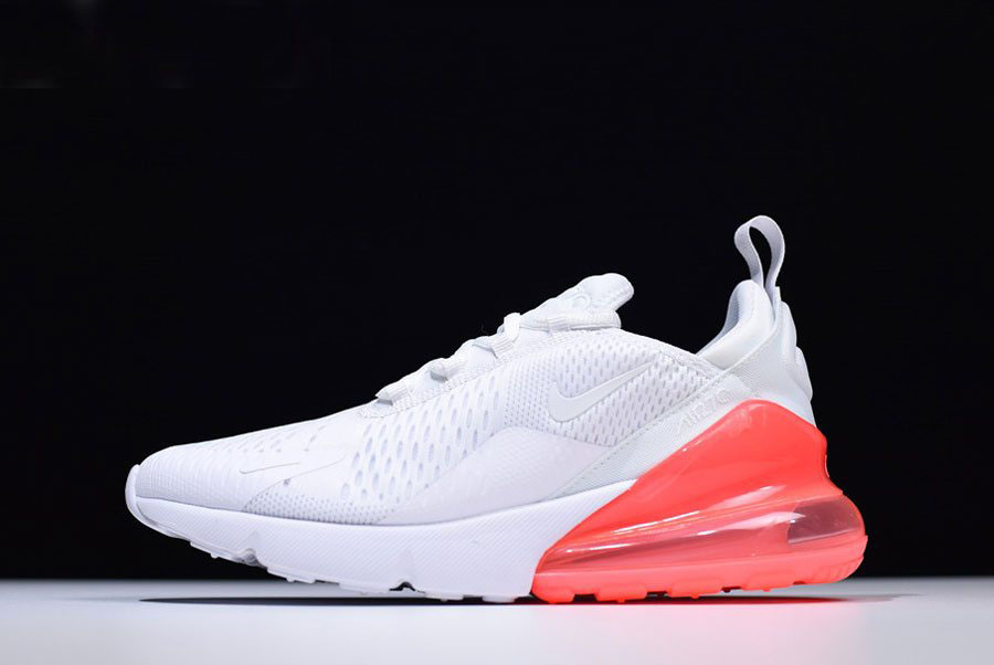 newest ba3cd b1a0b Mens and WMNS Nike Air Max 270 White Hot Punch Running Shoes AH8050-103