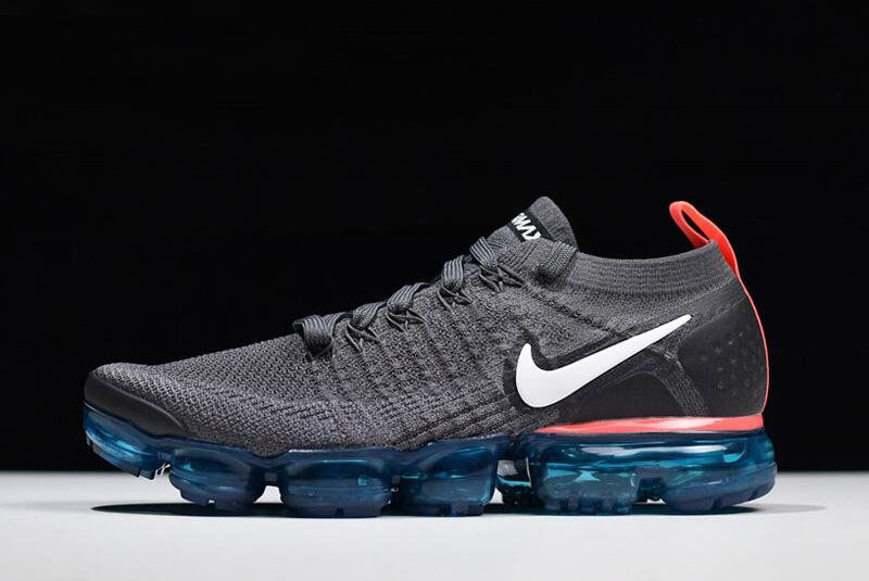 Nike Air VaporMax Flyknit 2.0 Thunder Grey/White-Bright Crimson Free Shipping