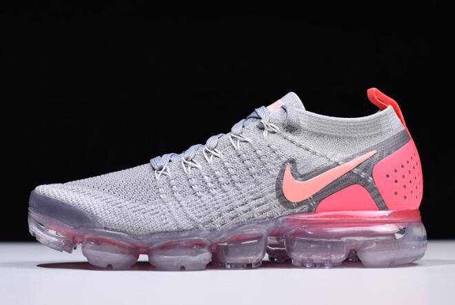 Women's Nike Air VaporMax Flyknit 2 Atmosphere Grey/Crimson Pulse 942843-005