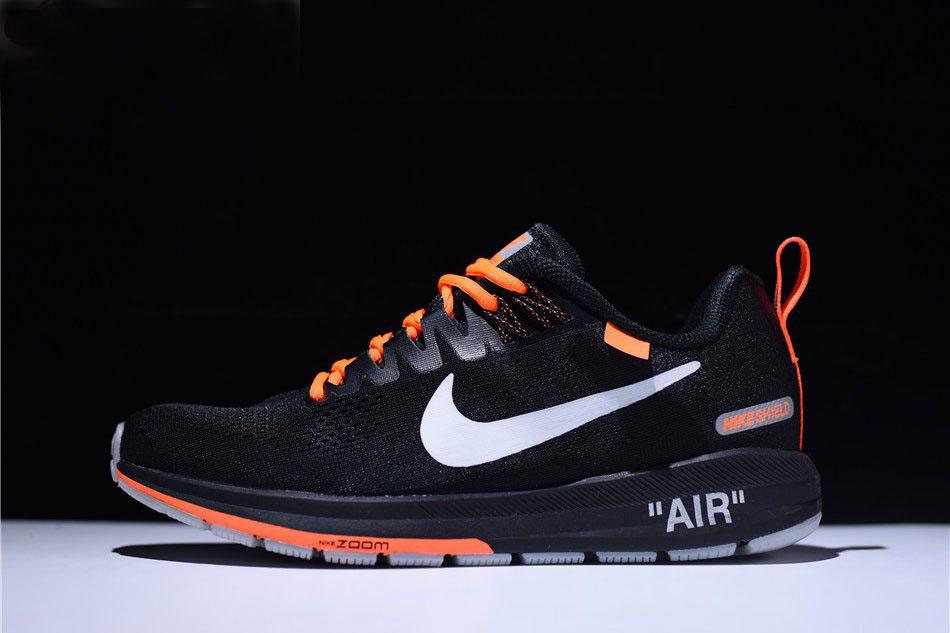 a4e354131645 Men s Off-White Virgil Abloh x Nike Air Zoom Structure 21 Black Orange-