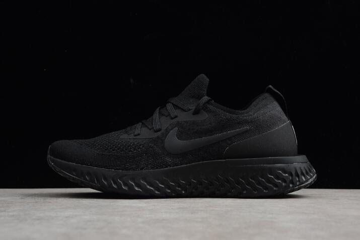 96c99ca3 Men's and Women's Nike Epic React Flyknit Triple Black Running Shoes  AQ0067-003