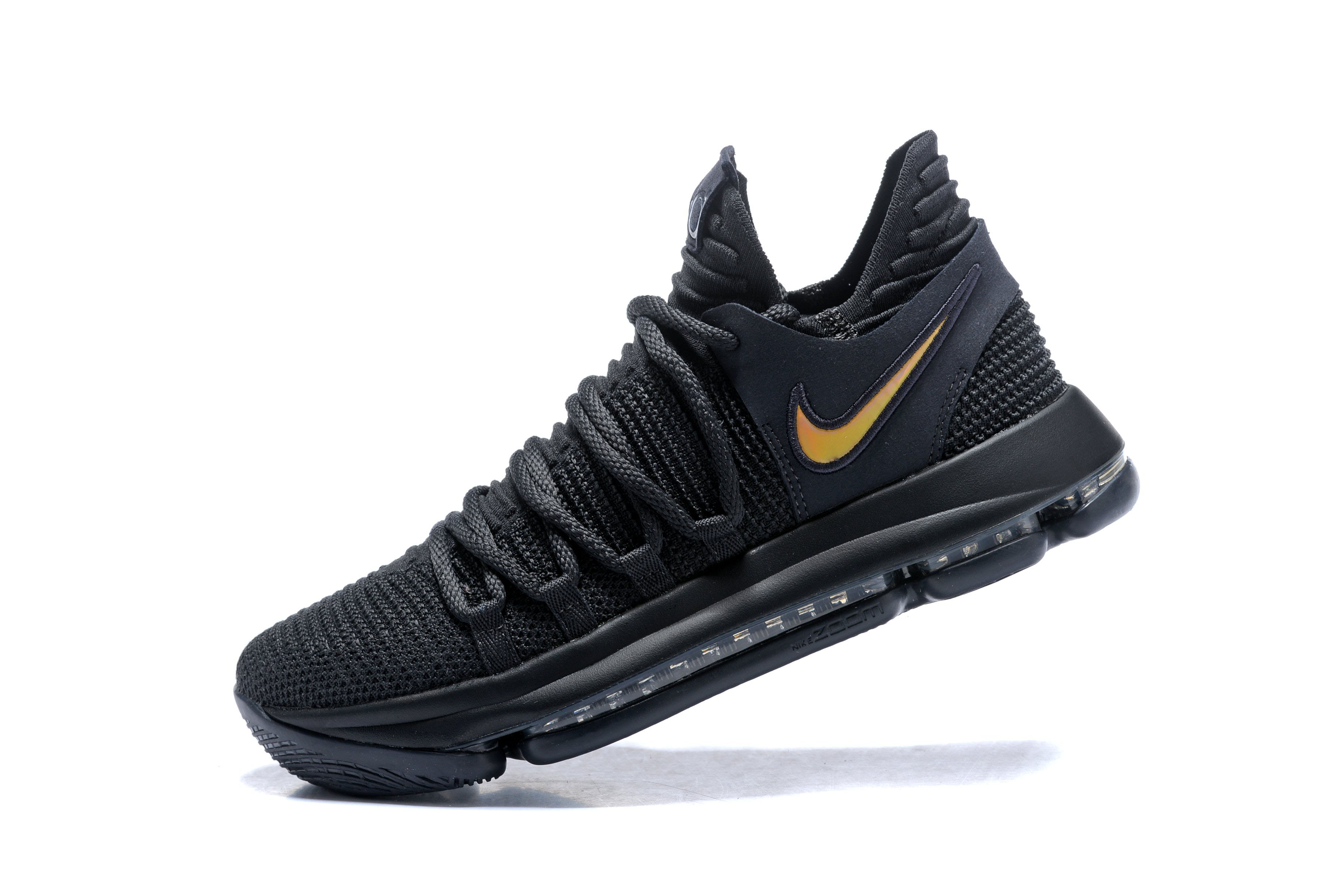0e8d14405337 Nike KD 10 PK80 Black Metallic Gold Men s Basketball Shoes