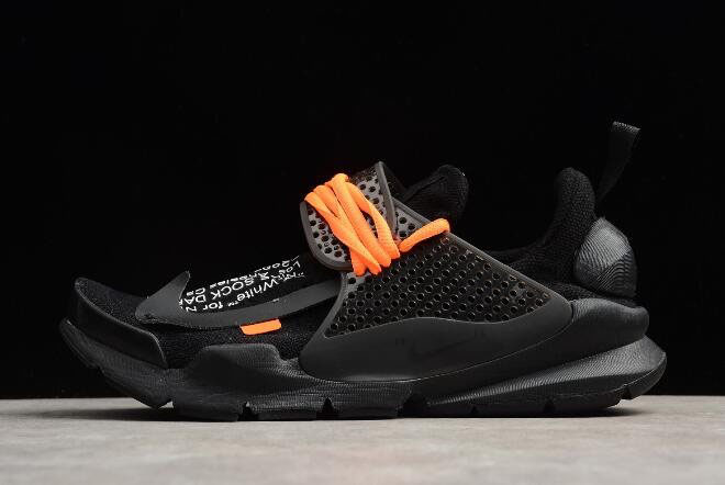 Cheap Off-White x Nike Sock Dart Black/Black-Volt Men's Size 819686-001