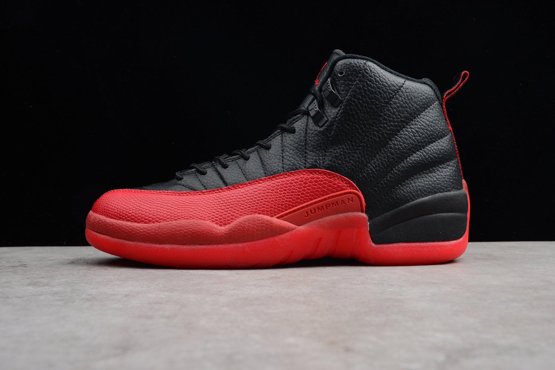 Air Jordan 12 Retro Flu Game Black/Varsity Red 130690-002