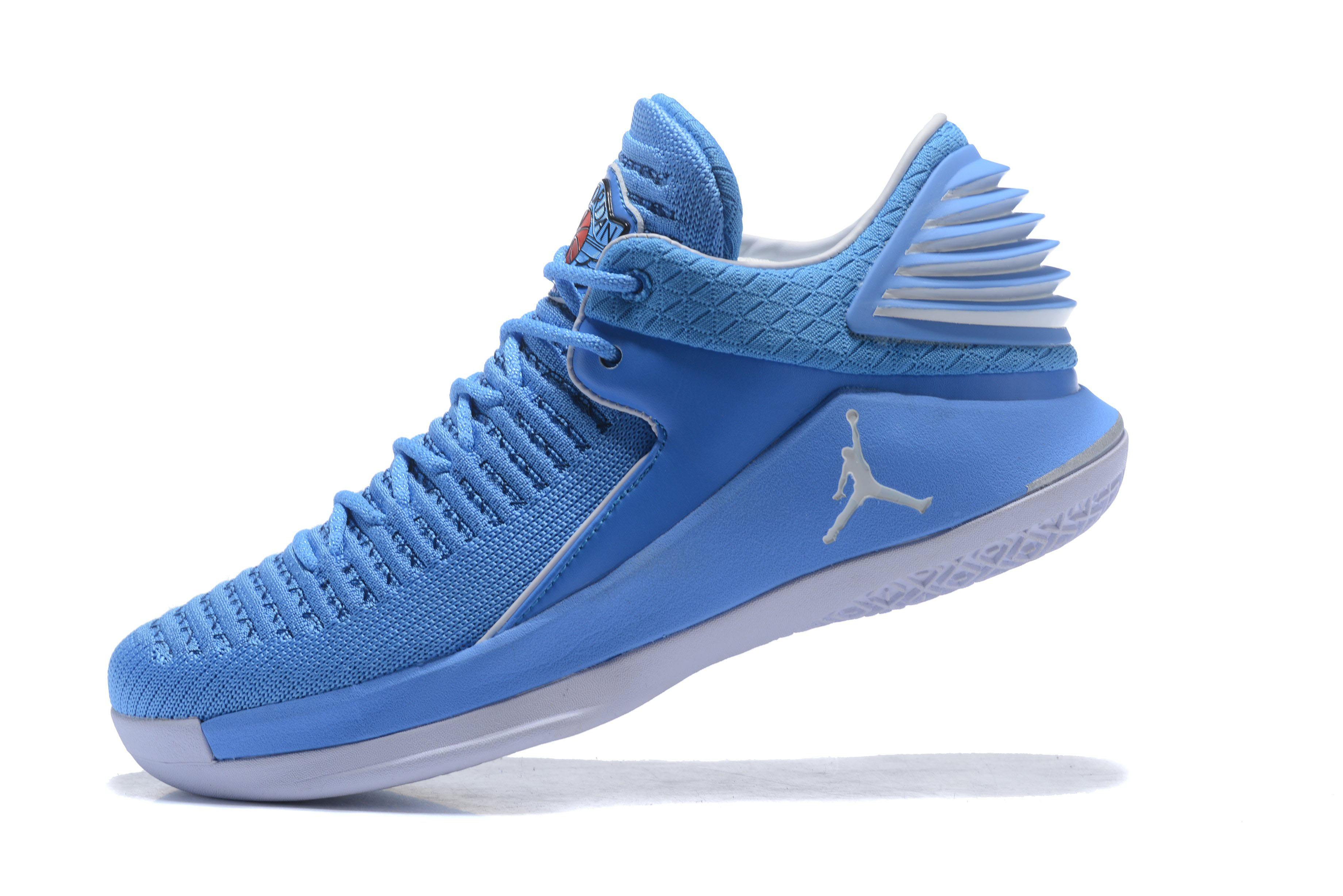 a11a451943f1 New Air Jordan 32 Low UNC University Blue White Men s Basketball Shoes