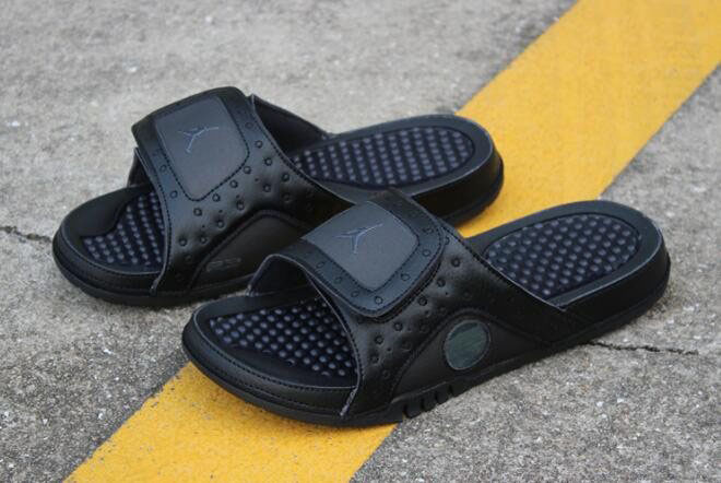 New Air Jordan Hydro 13 Retro Black Cat Black/Anthracite Sandals